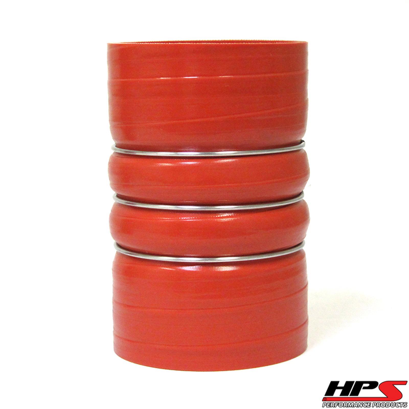 Black 3.5 x 3 Long Straight Silicone Hose Coupler Tube HPS HTST-3F-350-BLK